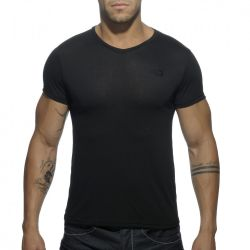 "Футболка ""Basic V-Neck T-Shirt - Black"""